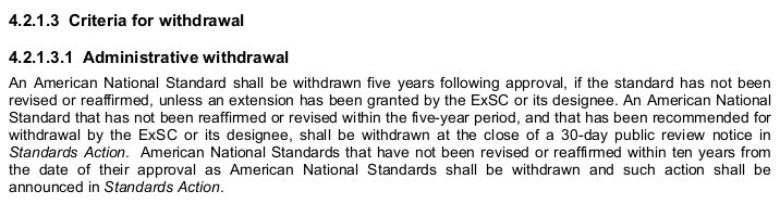 """4.2.1.3 Criteria for withdrawal