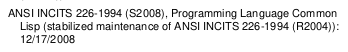 """ANSI INCITS 226-1994 (S2008), Programming Language Common